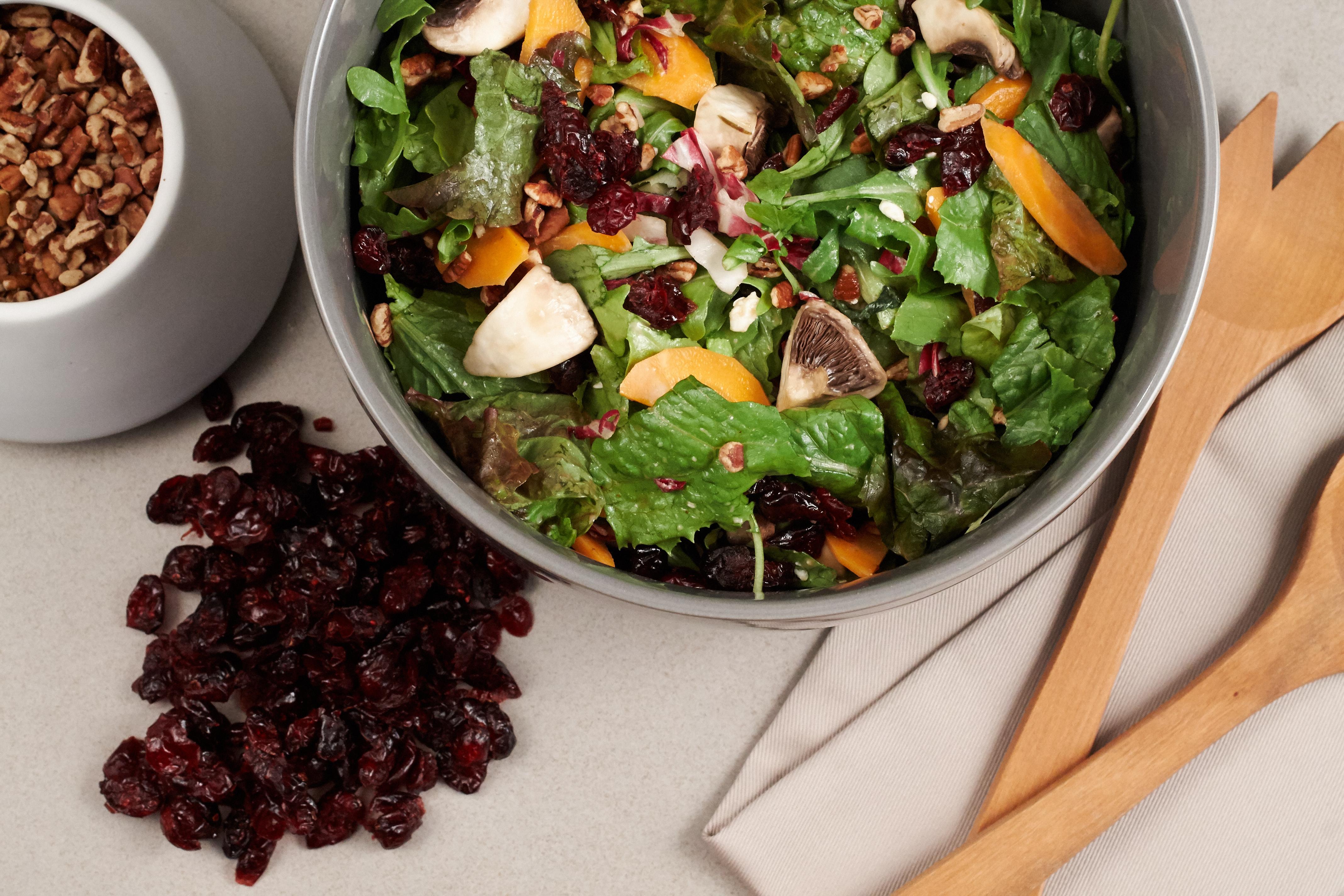 Cranberry pecan and feta salad