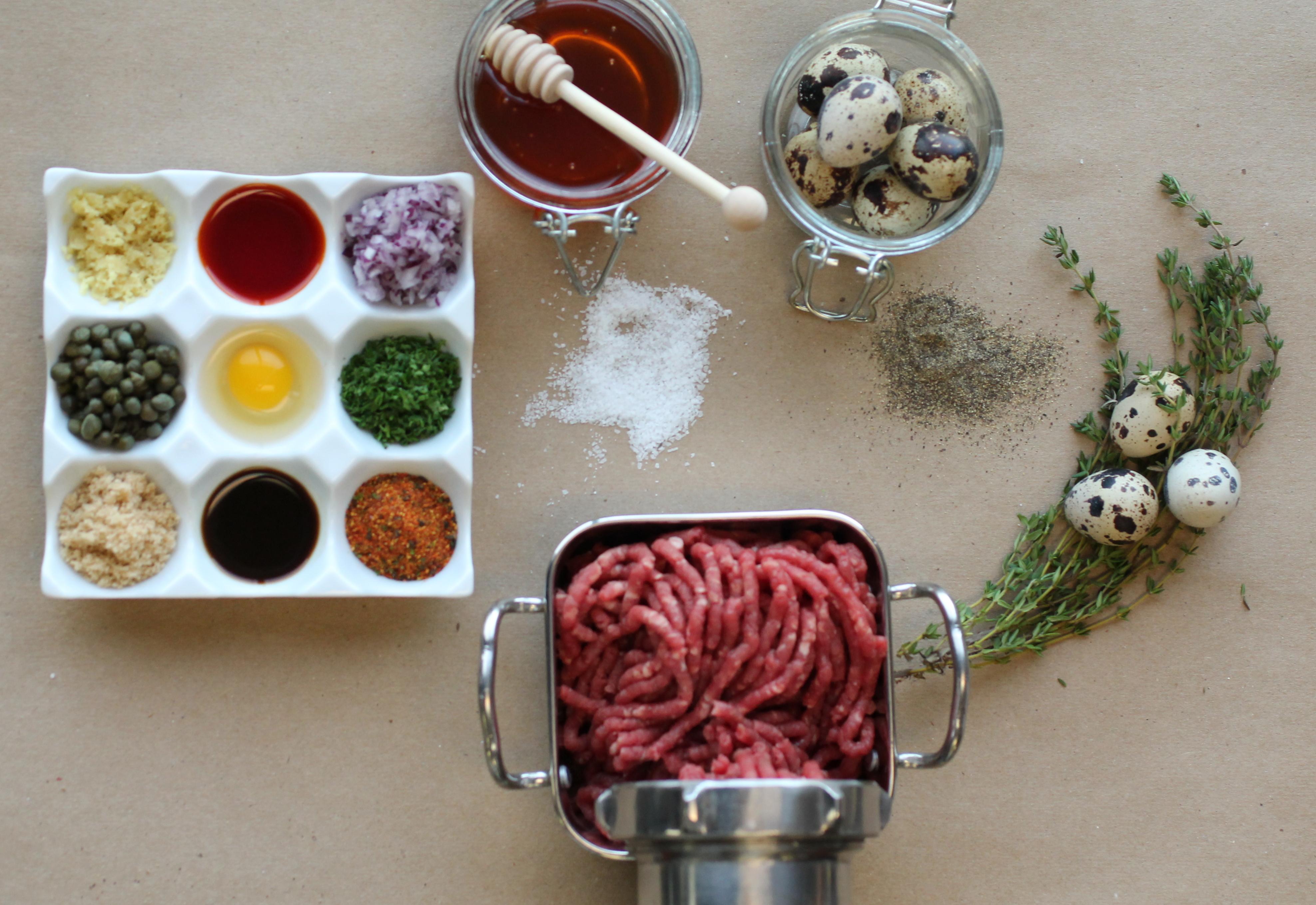 Beef Tartare Setup at ILIA Master's Dinner