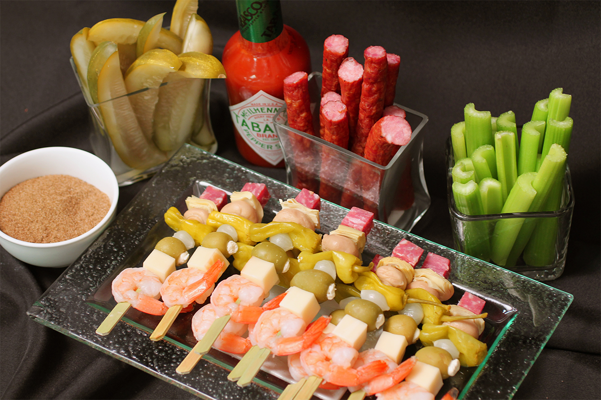 Bloody Mary Skewers & Bloody Mary Condiment Package