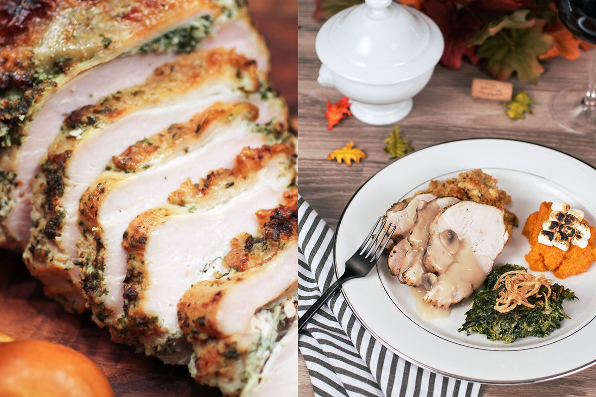 Thanksgiving Herb crusted turkey and Thanksgiving dinner