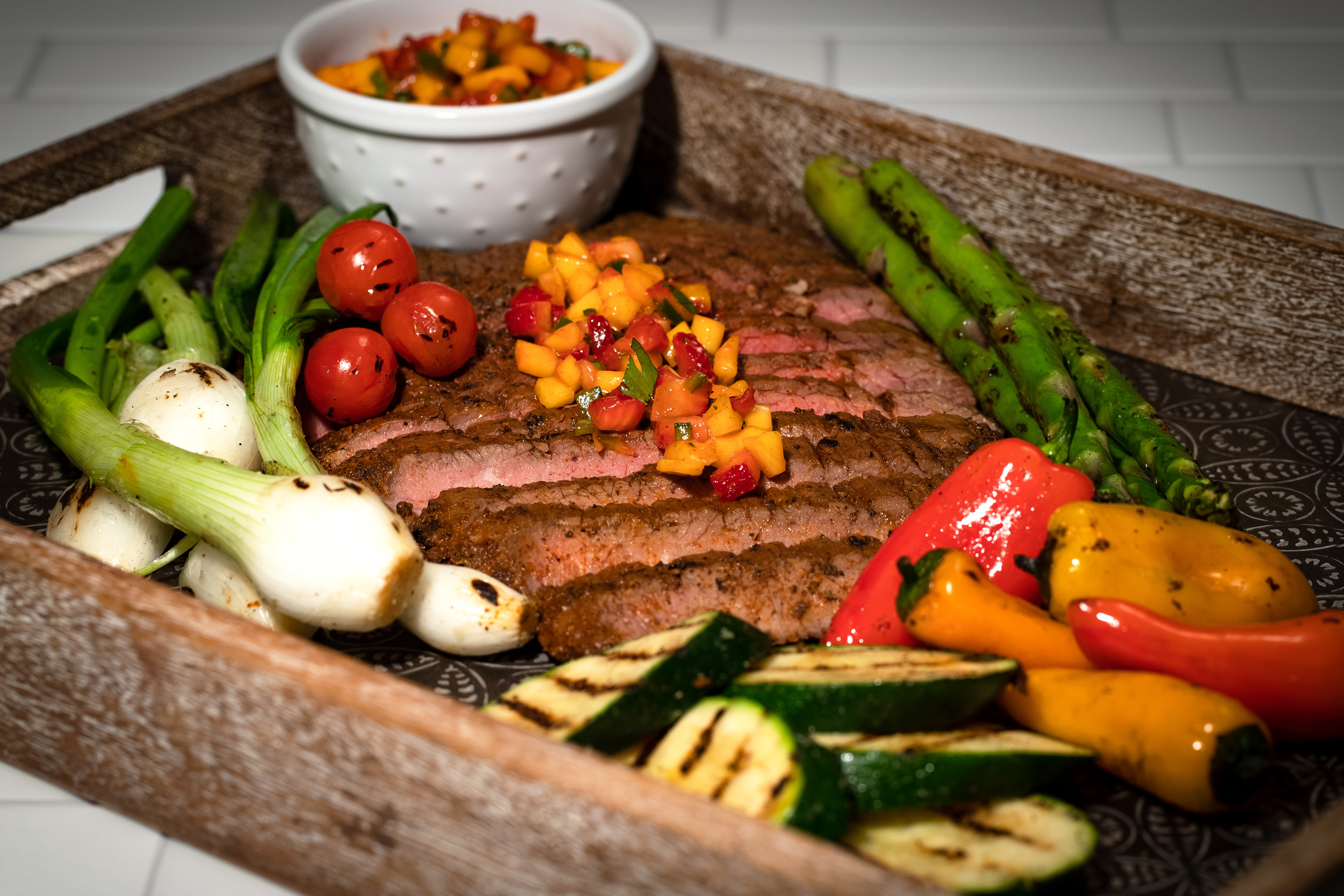 smoked paprika flank steak display