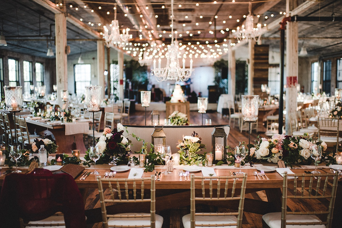 Gillian and Ryan wedding venue decor
