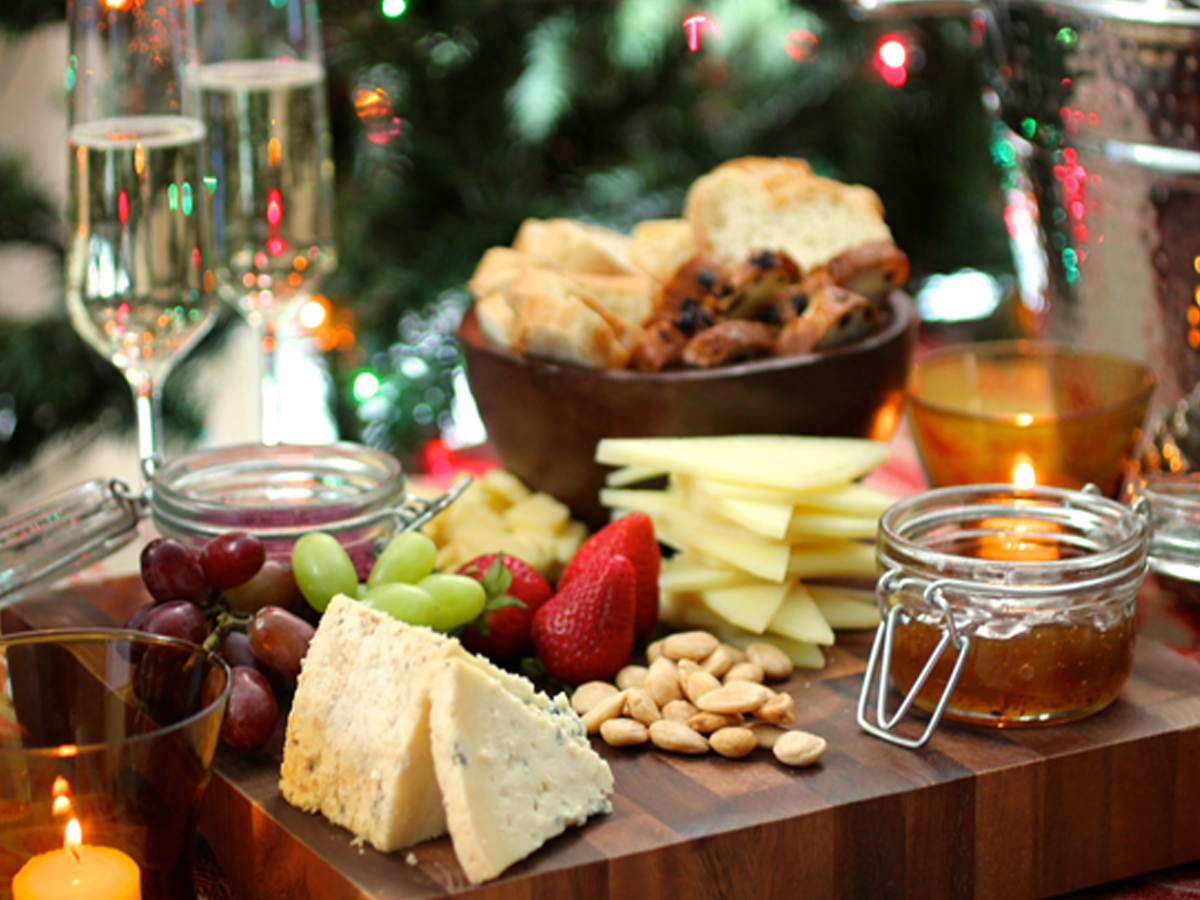 Holiday Cheese Board Display