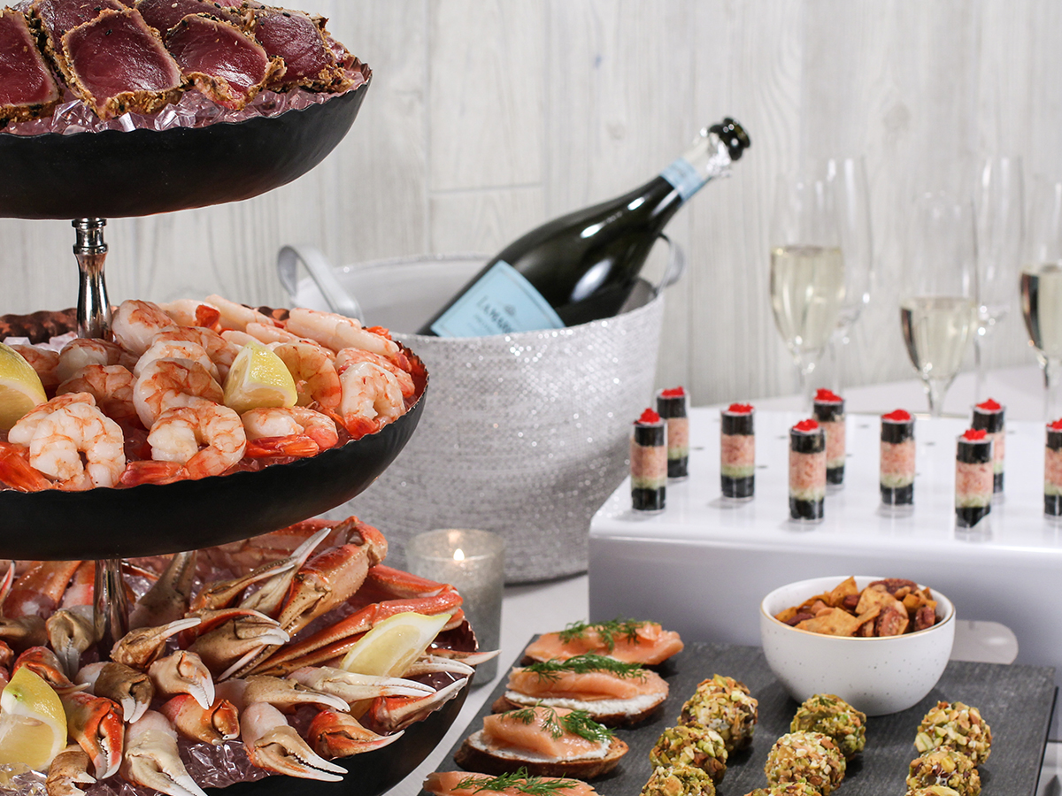Seafood Holiday Spread for Corporate Holiday Party