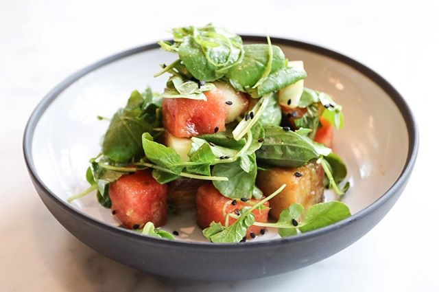 Proxi's Pork Belly and Watermelon Salad