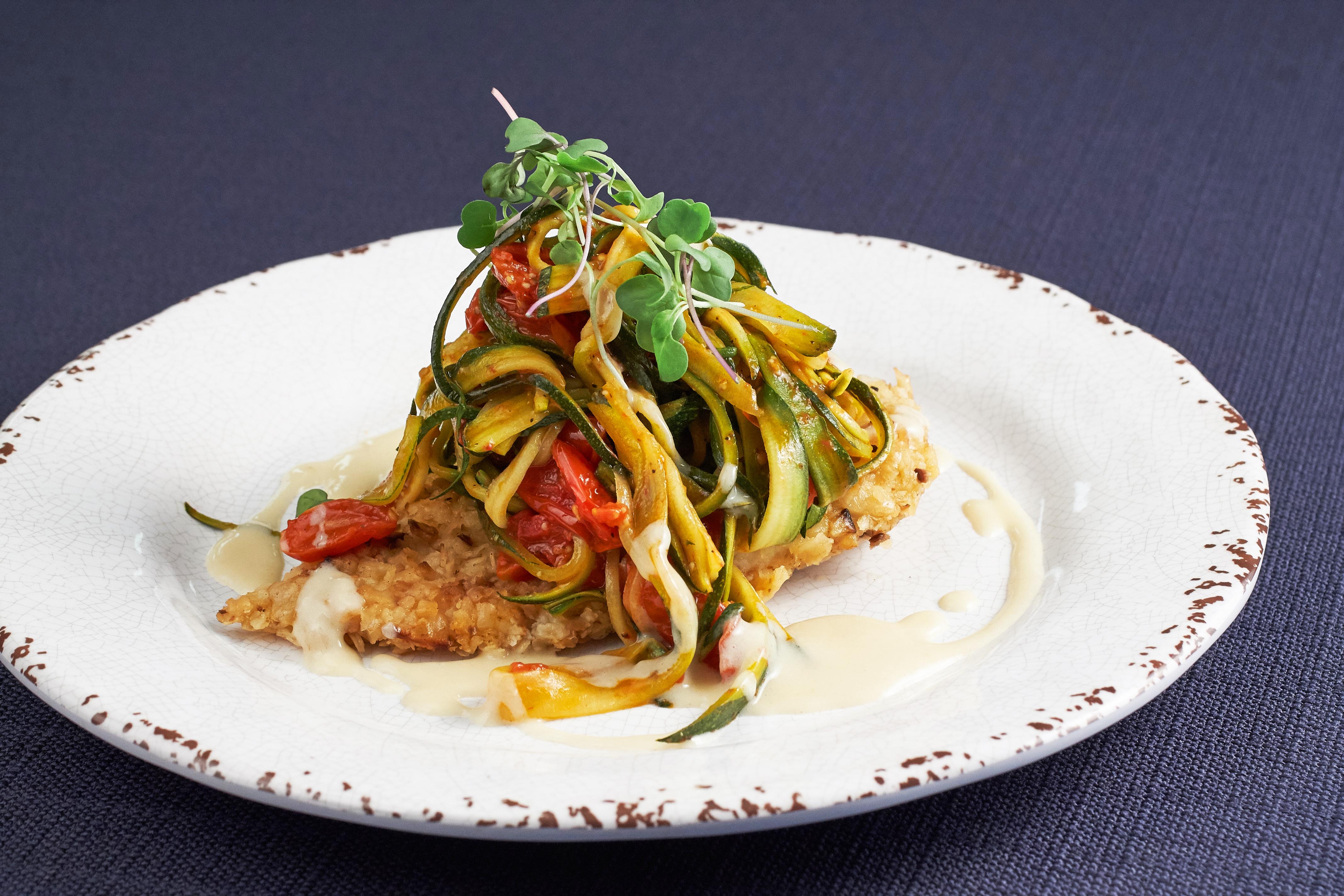 Rosh Hashanah Matzo Encrusted Chicken