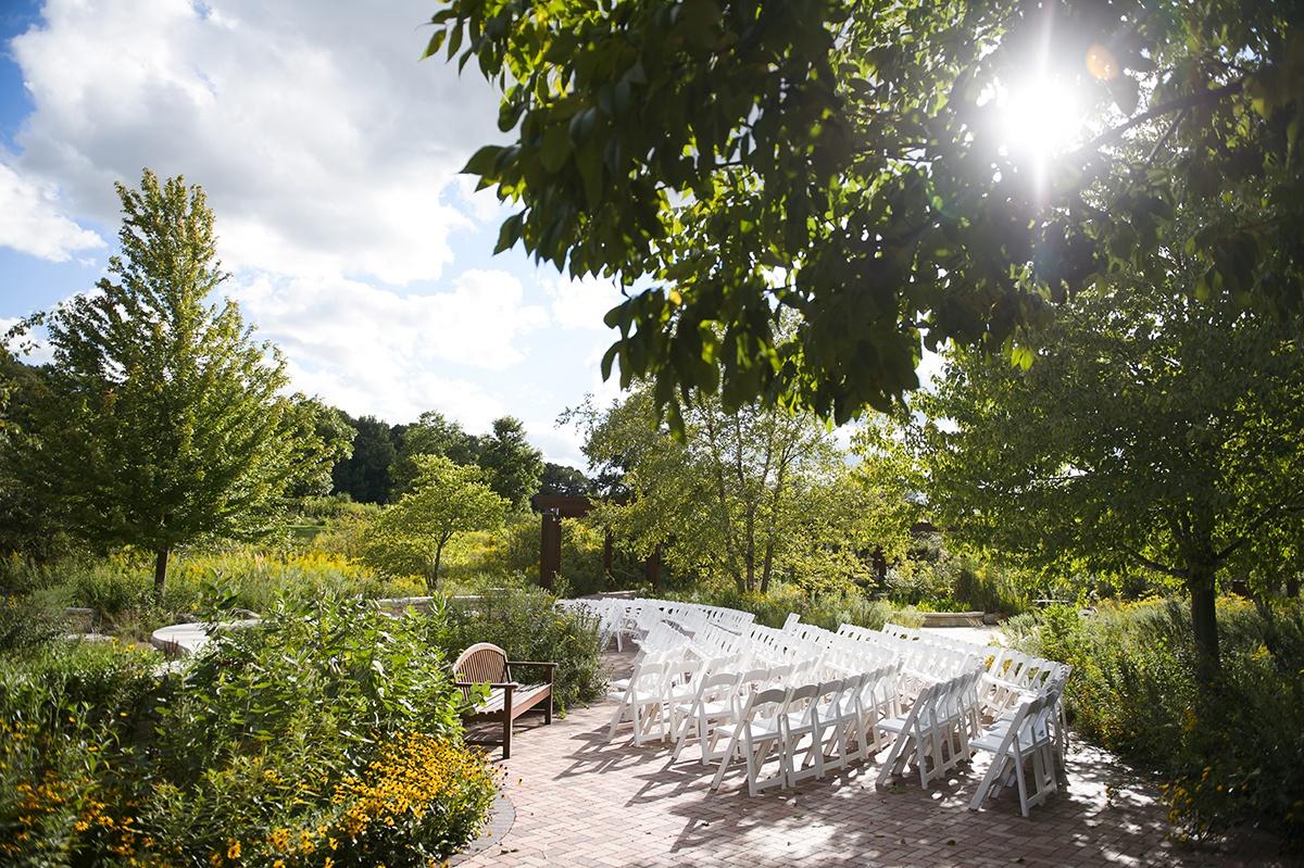 Independence Grove Wedding Native Garden