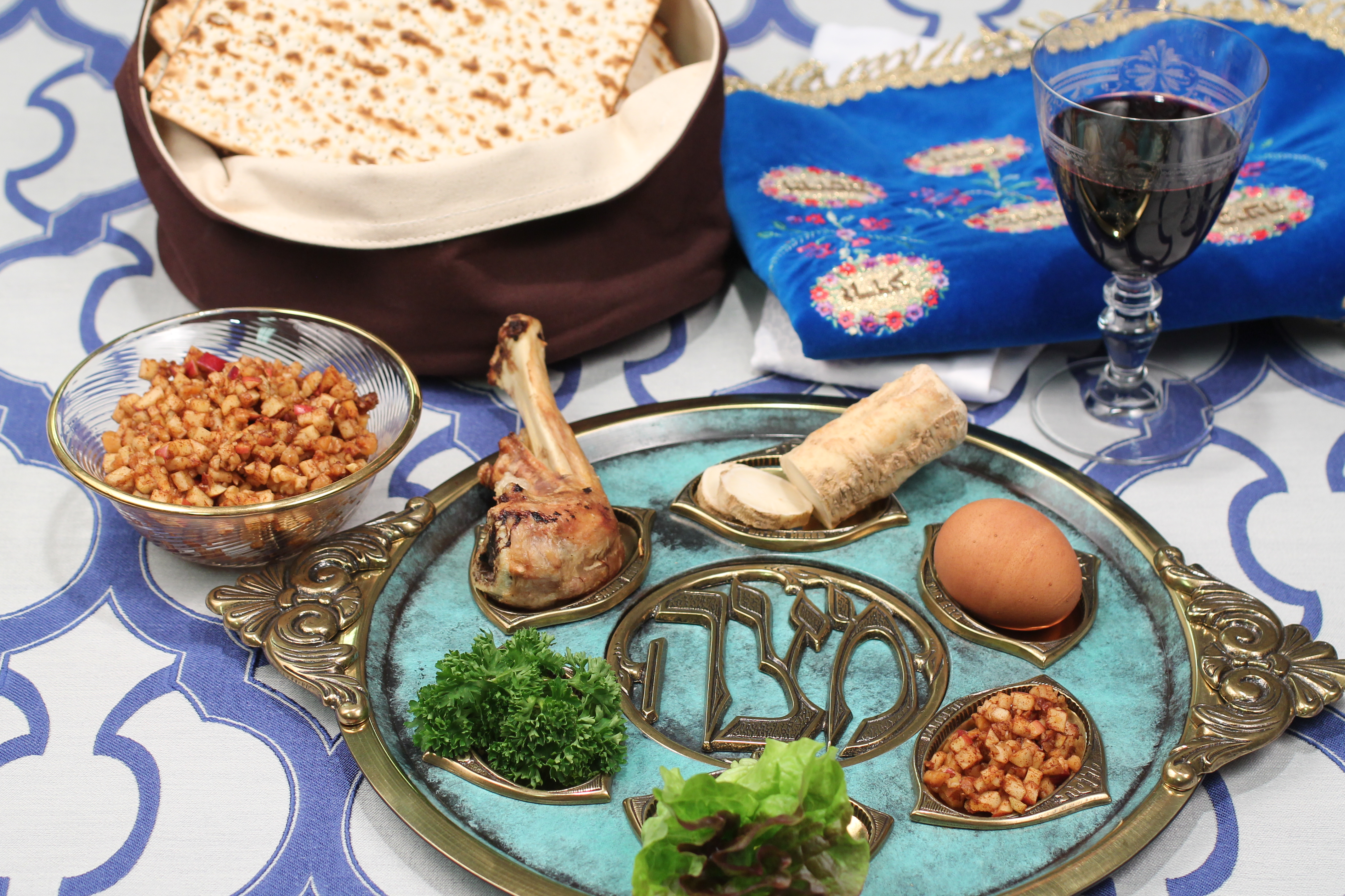 passover catering seder dinner plate