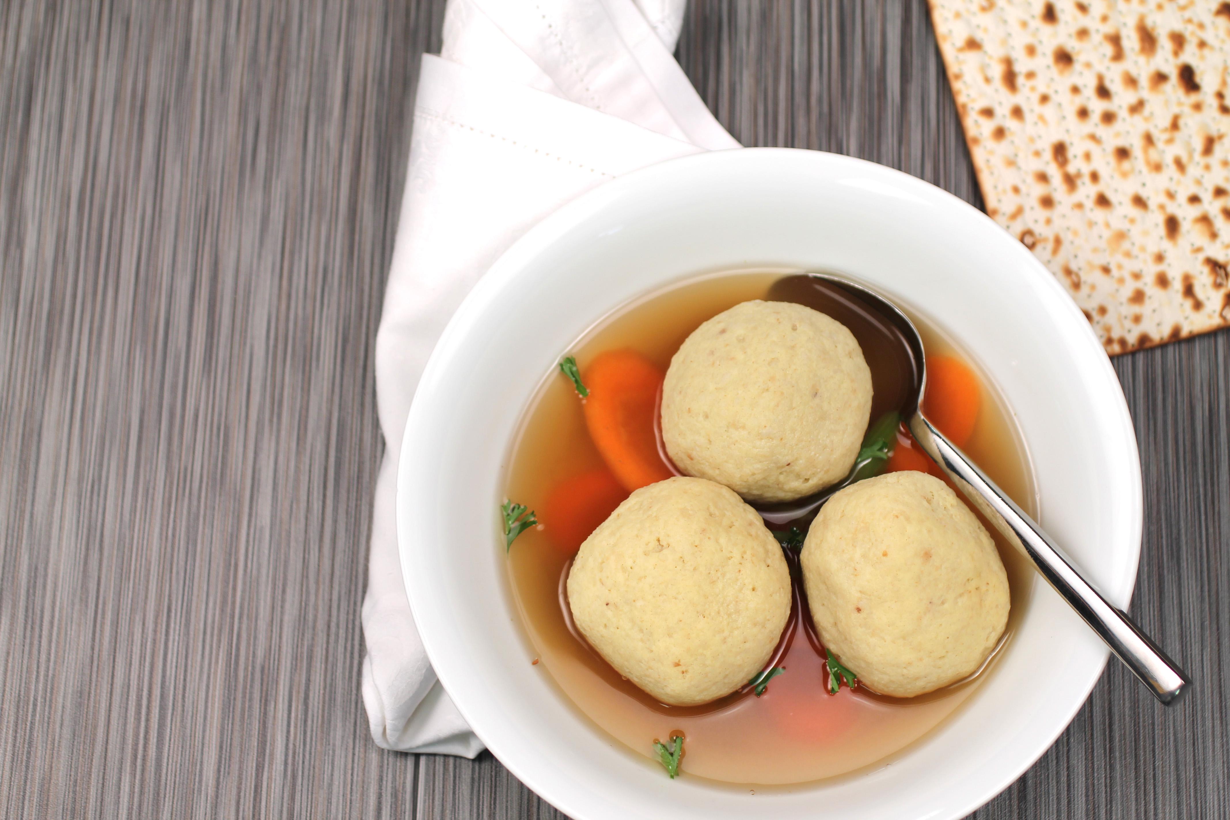 Passover Matzo ball soup