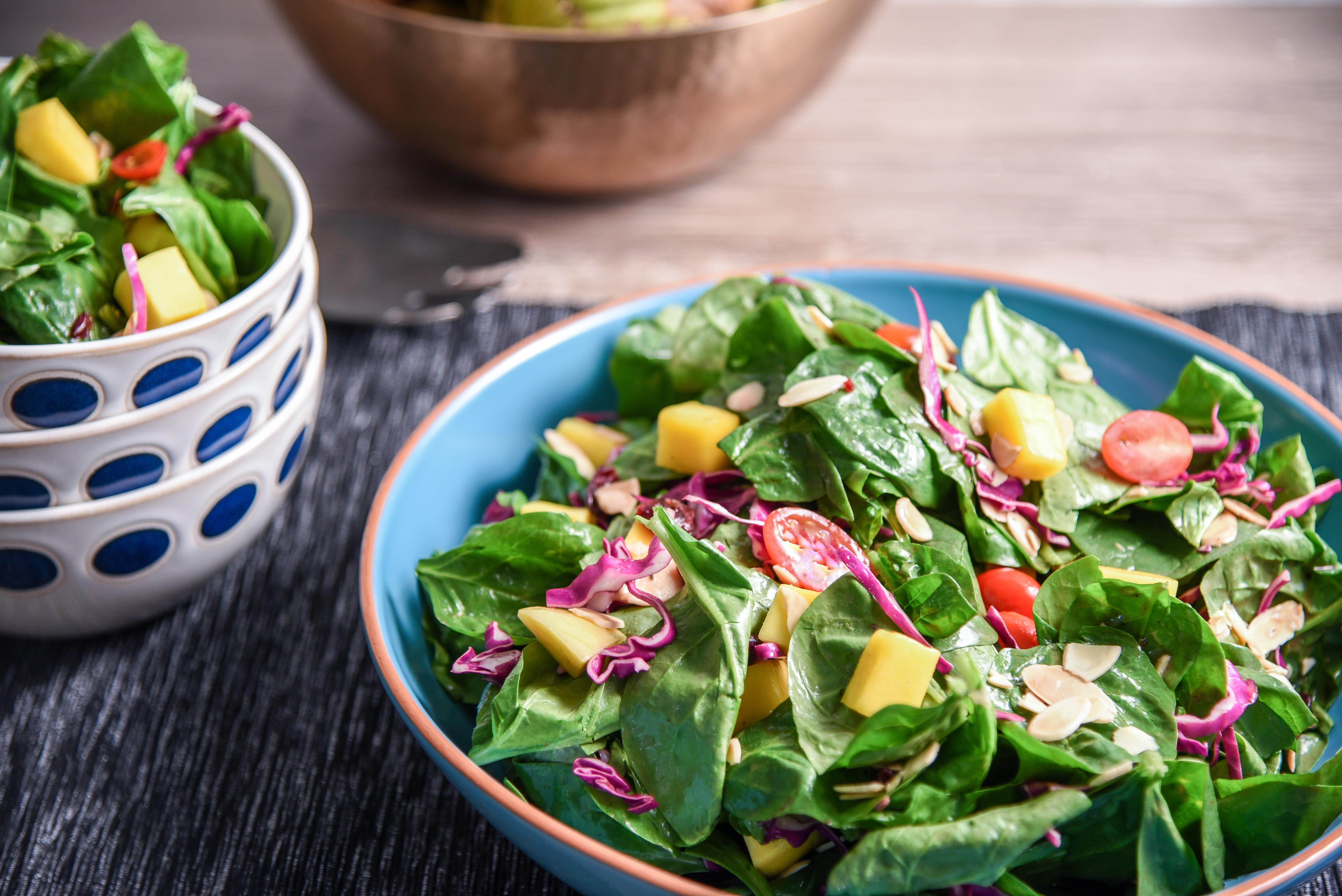 Spinach Mango Salad for Rosh Hashanah